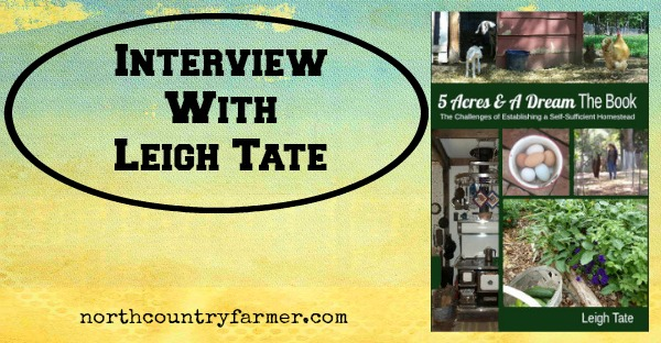 Interview with Leigh Tate, Author of 5 Acres and a Dream (Podcast)