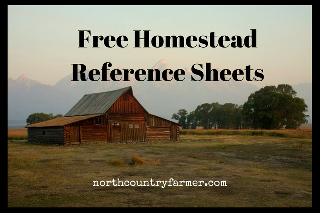 handy homestead reference sheets free download north ForFree Homestead