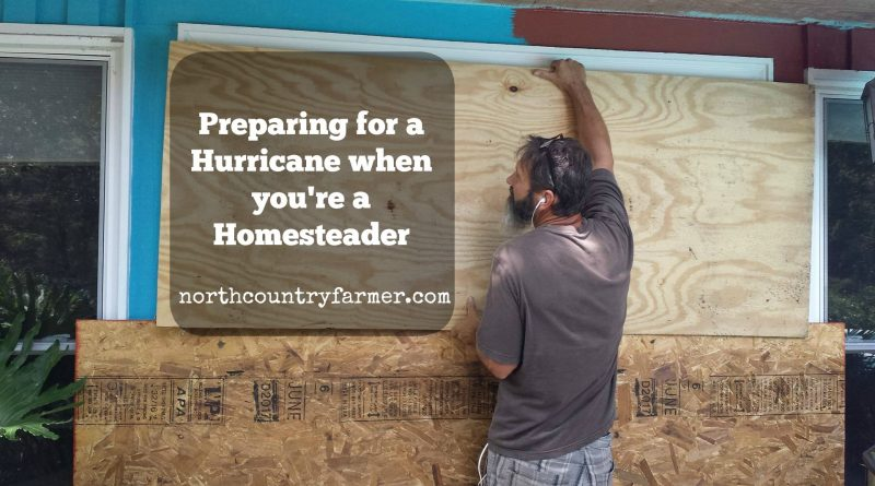 Preparing for a Hurricane when you're a Homesteader